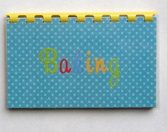 "SALE ITEM Price is marked Handmade ""Baking"" Blank Recipe Book"