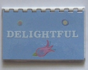 SALE ITEM Price is marked Delightful Blank Recipe Book