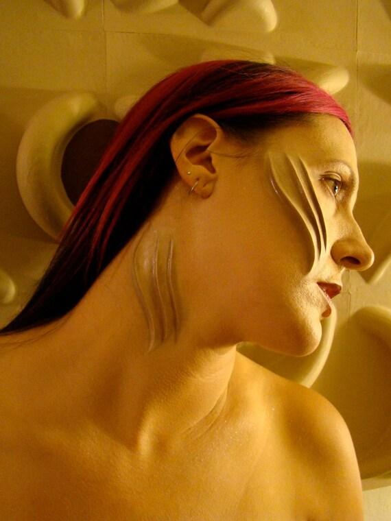 """Little Monster Prosthetic Gills, (""""flesh"""" toned) Halloween, Mermaid, Lady Gaga Inspired"""