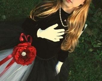 Formal Affair Tutu or Dress---Black and White---Perfect Flower Girl Dress