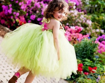 TUTU DRESS or Tutu--Lime Sorbet--Flower Girl Dress-Pageants Wear-Portraits