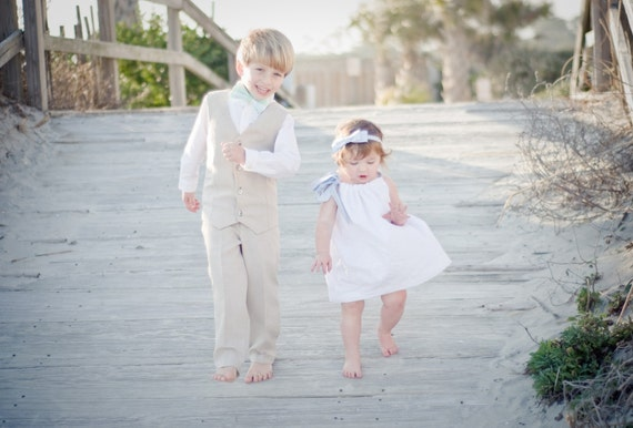Boys Vest and Pant Set--Ring Bearer, Portraits, Church--Available in a Variety of Colors---Size 12mth-4T---Perfect for Weddings