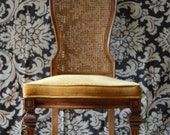 reserved for Kim Vintage CHAIR with striking CANE high back silhouette