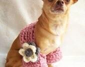 Crochet Shrug, Crochet Dog Sweater, Crochet for Dogs, Shrug with Flower