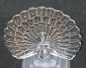FREE SHIPPING - Vintage Cristal d'Arques France Lead Crystal Peacock Bird Figurine