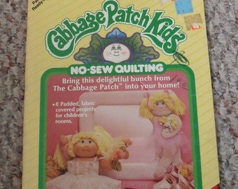 Vintage Cabbage Patch Kids Pattern Book, 1985, Xavier Robers, Quilting, Fabric-covered Decor for Children, Wall Decor, Mobile, Gift