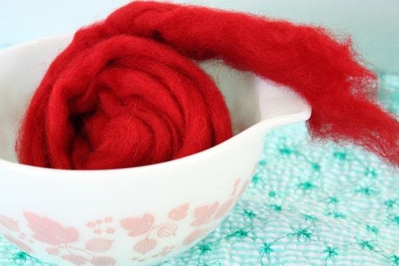 Very Cherry - 3oz Wool Fiber
