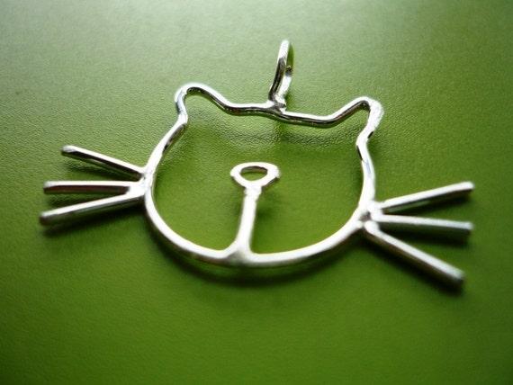 Silver Cat Necklace w/ Silver Chain
