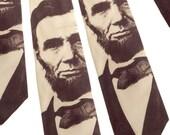 Abraham Lincoln Necktie - Sepia Tie - Men's Tie