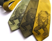 Pretentious Frog Necktie - Screen Printed Microfiber Tie