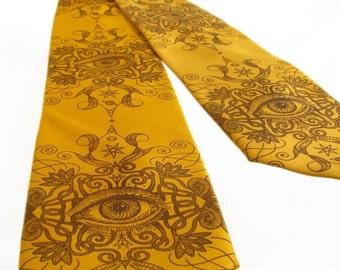 Psychedelic Eye Necktie - Men's Neck Tie - Screen Print - Psychedelic Clothing - Unique Men Gifts