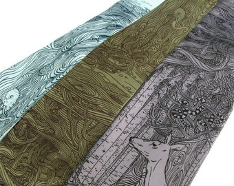 Tangled Forest Necktie - Surreal Art Tie - Men's Necktie - Unique Gifts for Him - Weird Strange Oddities