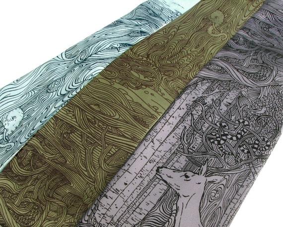 Tangled Forest Necktie - Surreal Art Tie - Men's Necktie - Unique Gifts for Him - Weird Strange Oddities