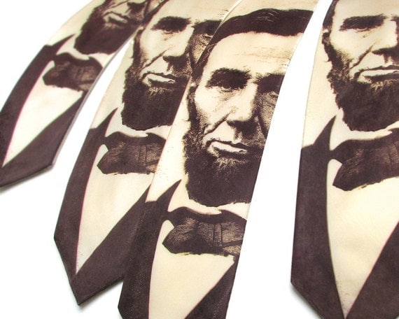 Abraham Lincoln SILK Necktie - Sepia Necktie - Lincoln Tie - Abraham Lincoln - History Teacher Gift - US Presidents