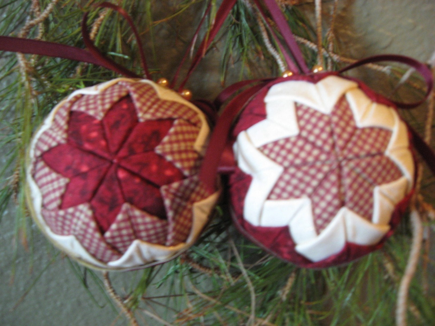 folded fabric ornaments instructions