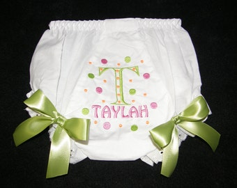 Personalized Baby Girl  Bloomers, Diaper Cover, Panties Free Shipping