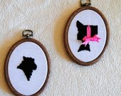 Peep This - Little Bo Peep and her sheep - hand embroidered silhouettes