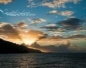 Moorea, French Polynesia Sunset Fine Art Photograph