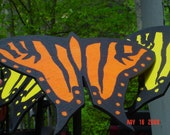 Wooden Hand-Crafted Butterfly on Garden Stake