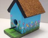 Blue Spring Flower Birdhouse