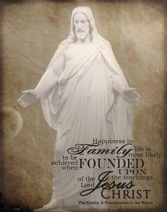 Jesus Christ Family Proclamation Printable 11x14 or 16x20