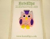 SALE - Hooter the Owl Hair clip, Hairclip, Hair Bow, 3D Ribbon Sculpture, Hair Accessory