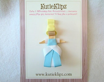 SALE - Cinderella Disney Princess Inspired Ribbon Sculpture Hair Clip ...Hair Accessory ...Hairbow