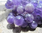 Purple Amethyst 12mm Round beads-- Full Strand 34pcs