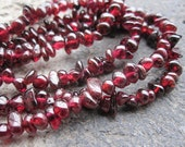 Dark Wine Red Garnet 4mm Chips Beads--32 inches Full Strand