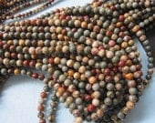 3 str -Colorful Picasso Jasper round beads 6mm  -66pcs/Strand