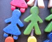10 Str -Multi Color Howlite Boy Girl charm beads 16x22mm- 17pcs/Strand