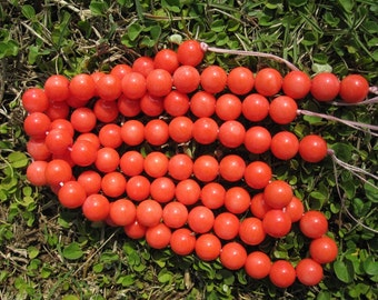 3 strands --A Grade Quality Orange Bamboo Coral 9MM Round Beads-- 45pcs Full Strand