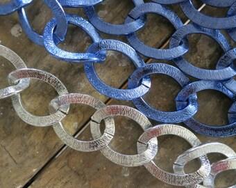 3 FT Large Royal Blue Aluminum Chains 25x32mm- K818