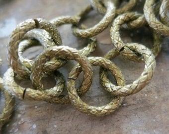 10 ft Bronze Aluminum Jewelry Round Ring Chain 12mm - K14615