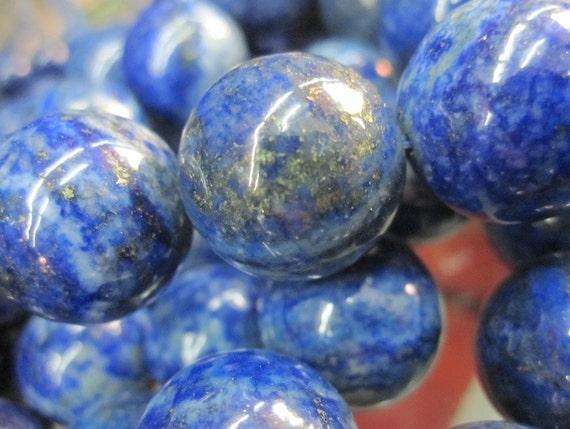 Lapis Lazuli Round Ball Large 16mm --25pcs Full Strand