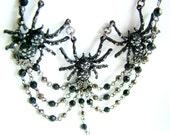 Metal spiders necklace - eeeeeeeeeeeeeeeeeeeeek
