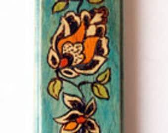 Mezuzah Case, Mezuzah House, Wood Mezuzah,Decorated Mezuzah