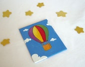 Up in the Sky - Baby playroom Decor - 2 original painting set