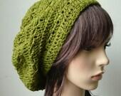 Handmade Crochet Short Rasta Tam - Forest Green RT95 - made to order