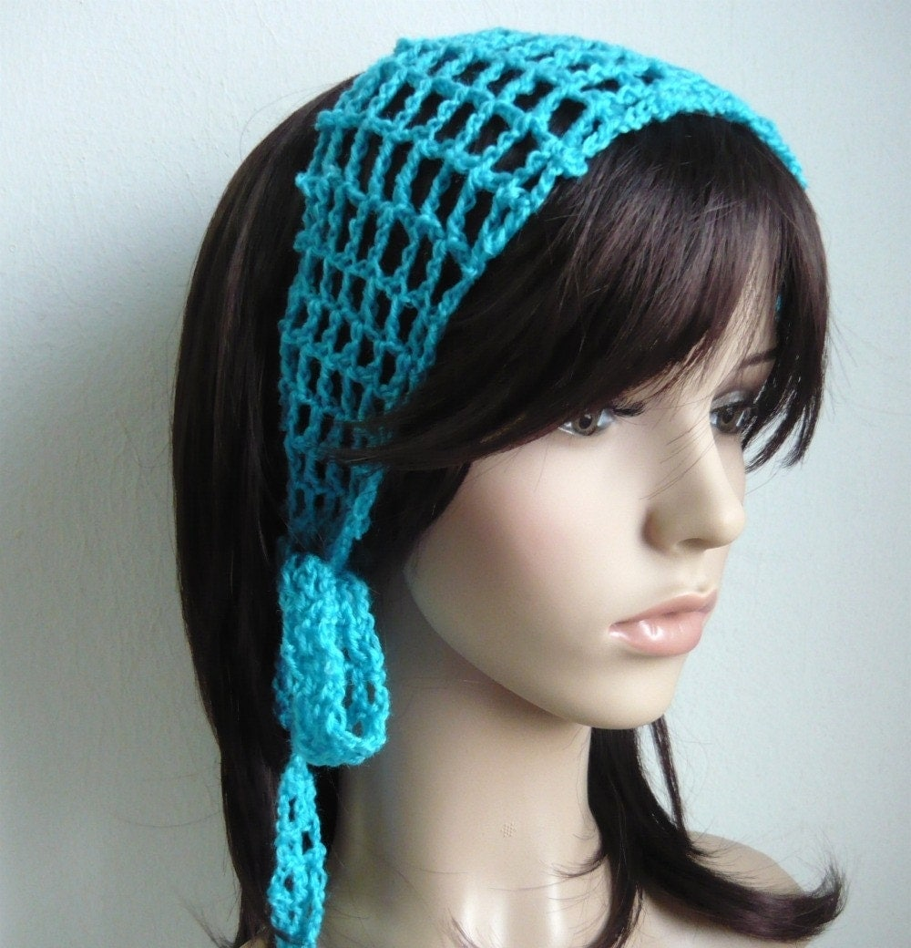 Crochet Gypsy Style Hair Band Pattern : Gypsy Hair Scarf Gypsy style crochet hair band