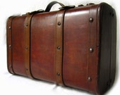 70s French ABBIE Wooden Luggage Bag