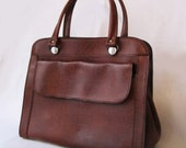 60s French PAULETTE Caramel Classic Chic Hand Bag