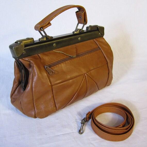 PATCHWORK DOCTOR Caramel Genuine Leather Bag