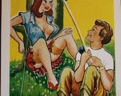Vintage Comic Saucy Seaside Postcard