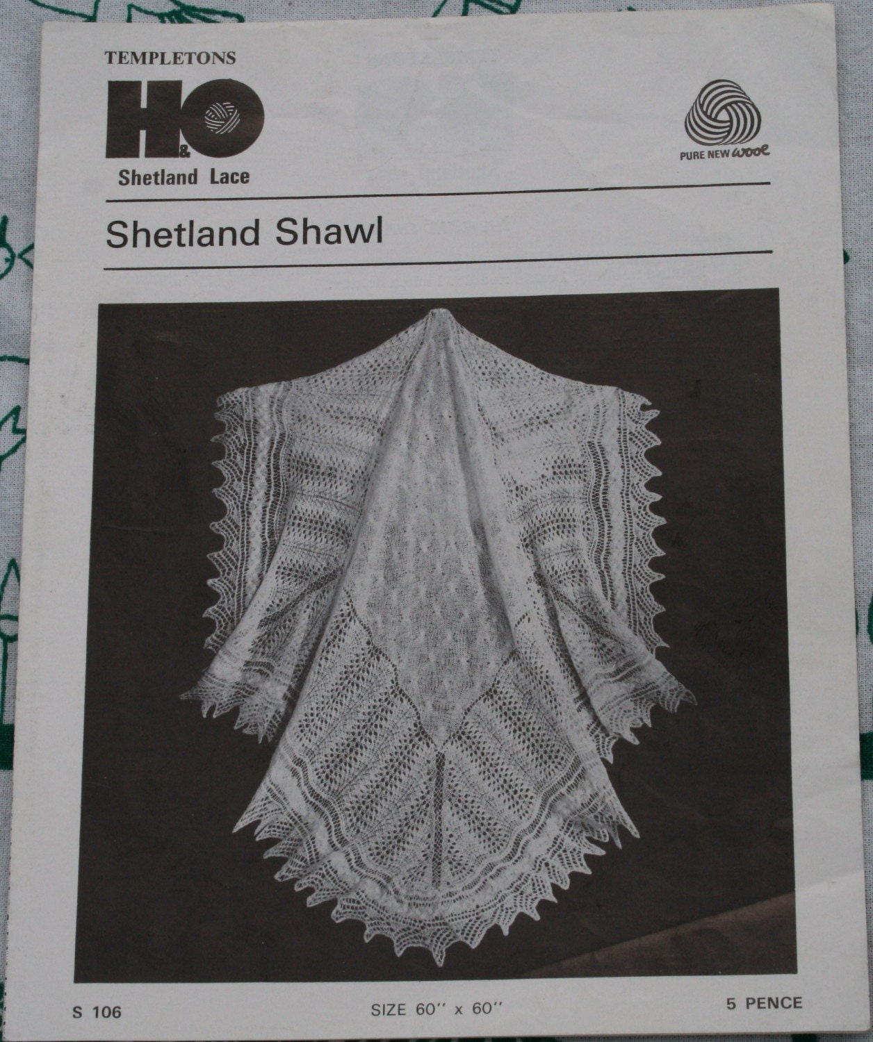 Vintage Shawl Knitting Patterns : VINTAGE SHETLAND SHAWL KNITTING PATTERN