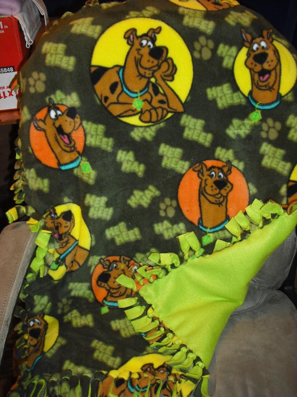 Scooby Doo Fleece Tie Blanket