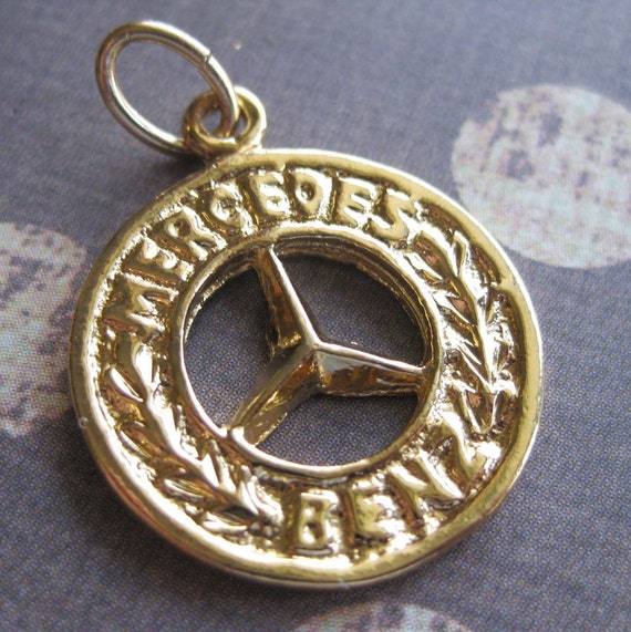 14k gold filled charm 1 mercedes benz emblem for Mercedes benz charm
