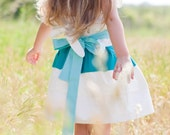 Custom Flower Girl Dress Sash from PetalPetal