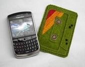 Green Cassette sleeve for BlackBerry - No. 1.