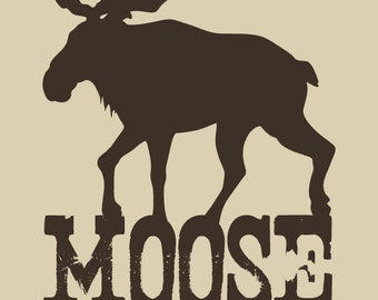 Moose - The Cow Of The Forest - Pop Art Print